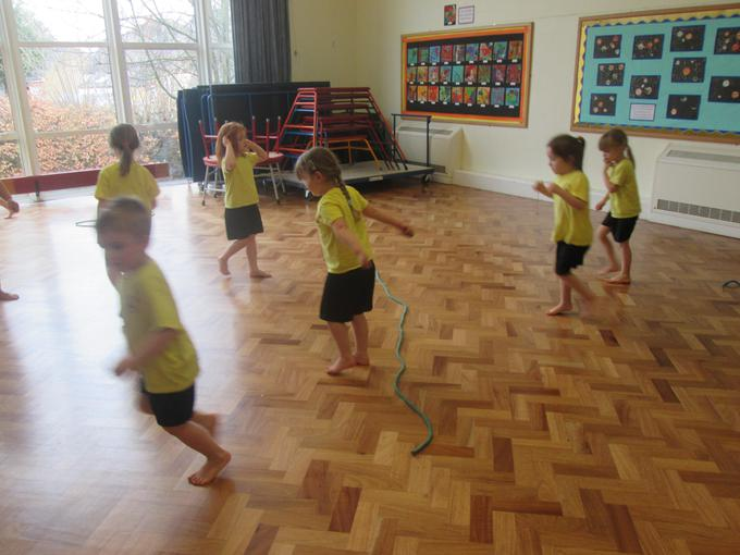 We have been learning how to jump safely