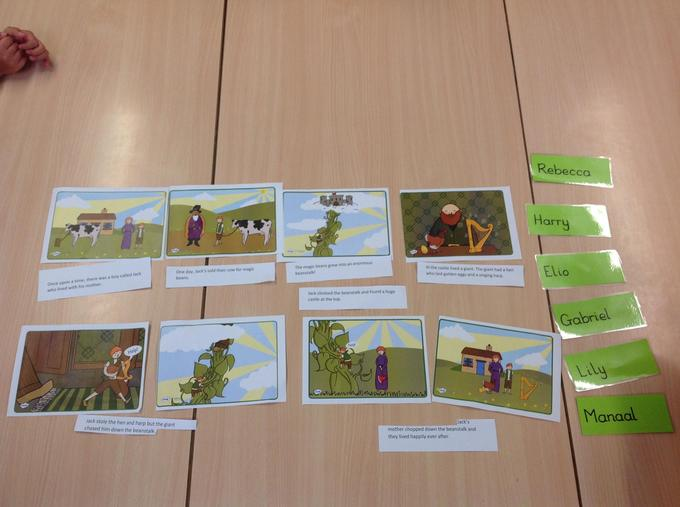 Ordering the story of Jack and the Beanstalk
