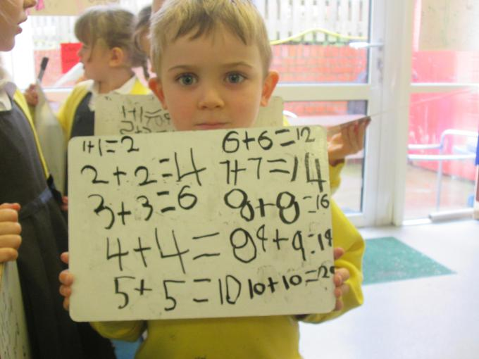 We then recorded our calculations