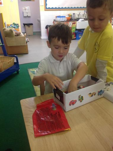 Sharing our All About Me boxes