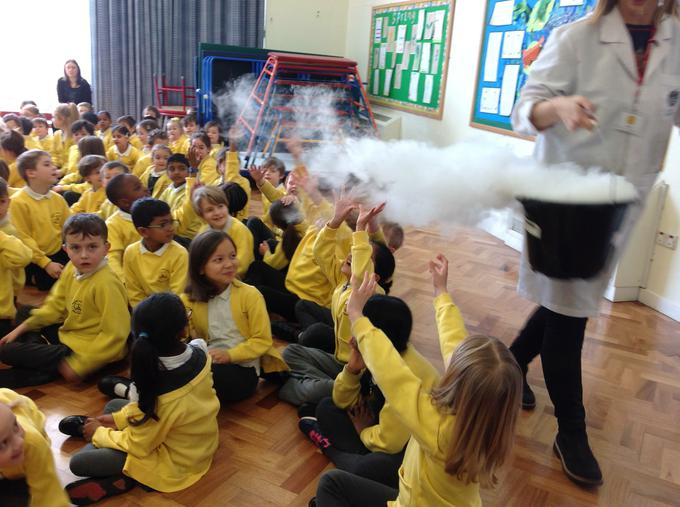 Dry ice fun in assembly