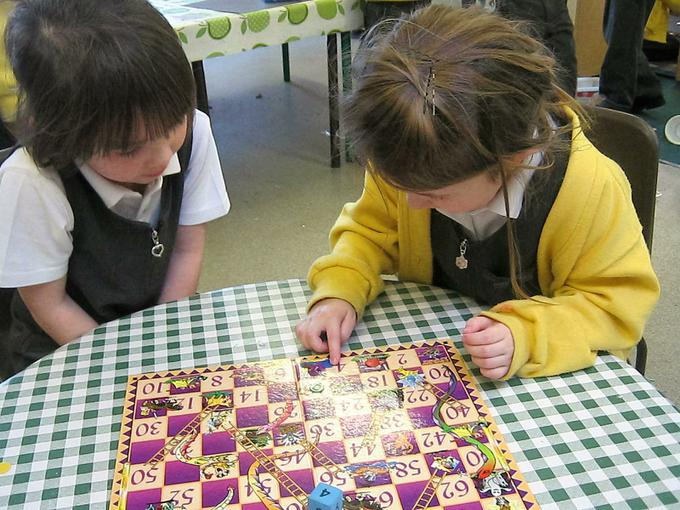 taking turns in the board game