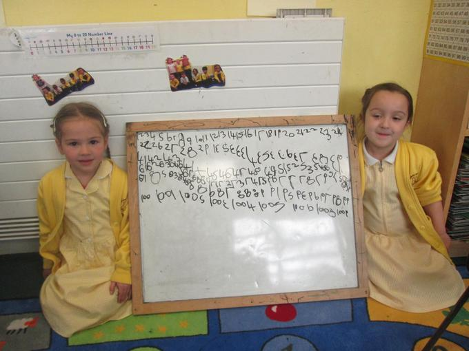 We can write our numbers up to 100!
