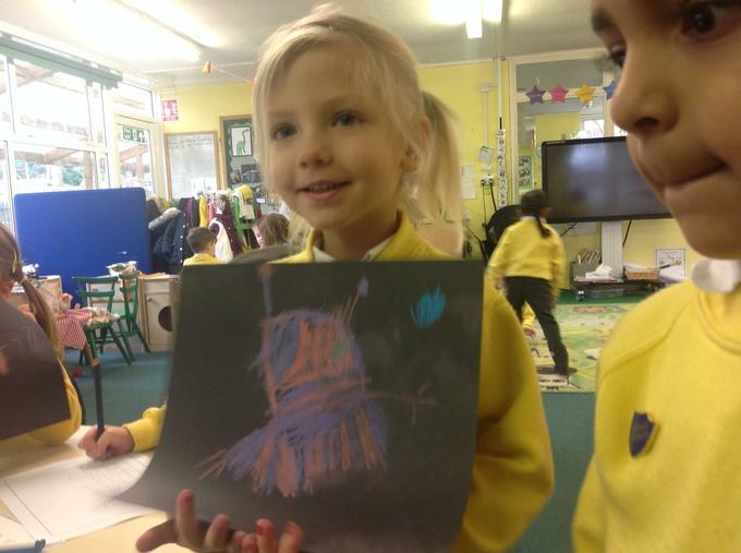 We drew pictures of aliens