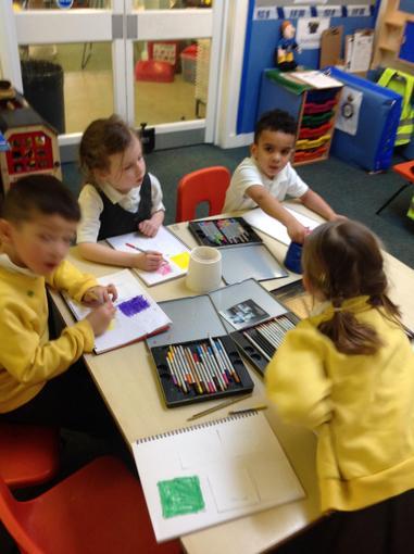 Testing watercolour pencils