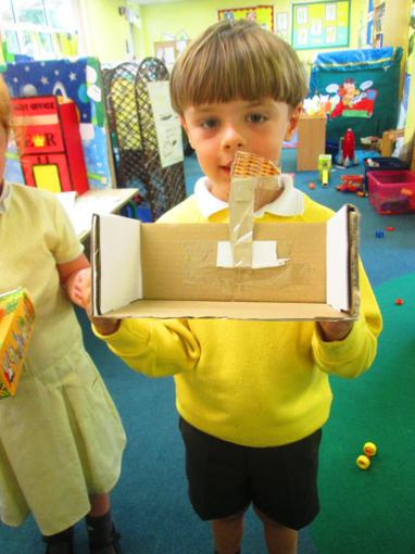 """""""I made a boat with a sail"""""""