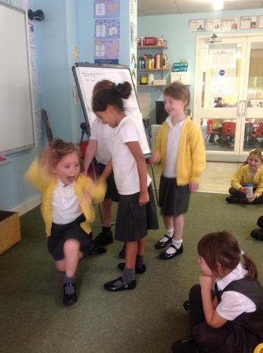 Acting out the story of Goldilocks