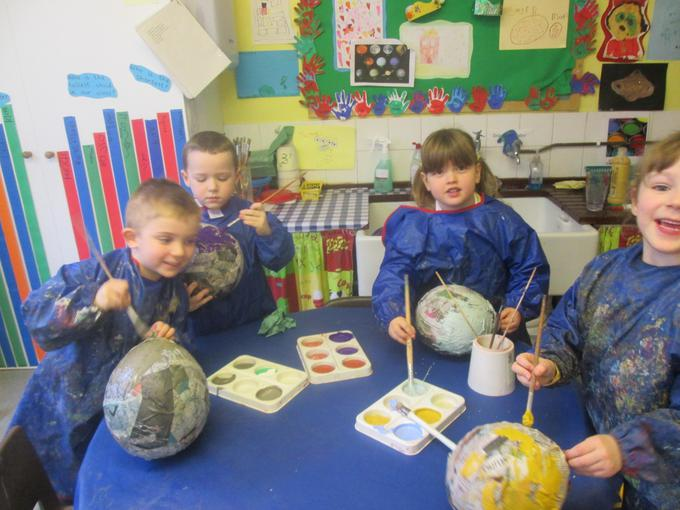 Painting our 3D planets