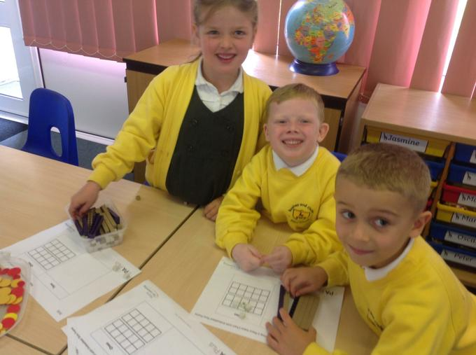 Enjoying our maths game!