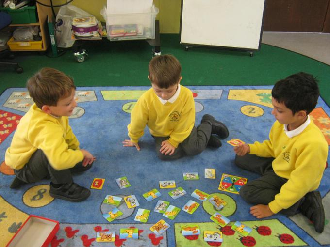 We played some counting and matching games