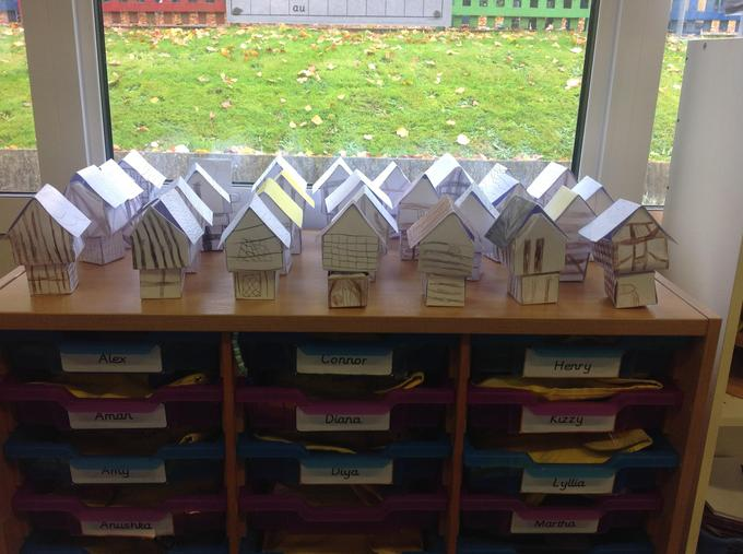 Our mini Tudor houses