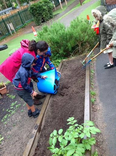 Spreading the soil