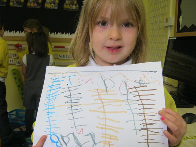 She wrote how long each ladder measured