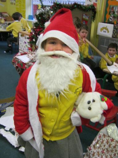 We dressed up as Santa