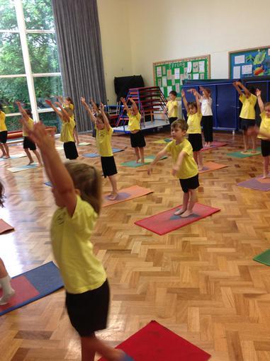 Our pilates lesson