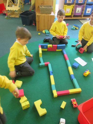 Using foam blocks to build an airport