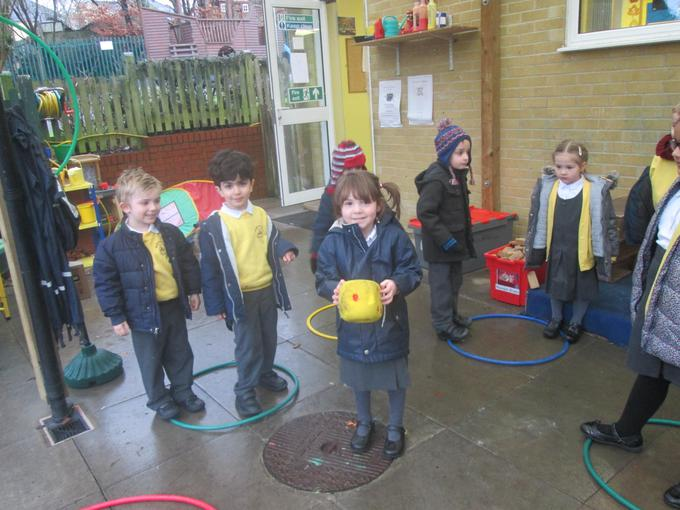Playing planet jumping in our maths session