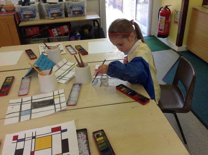 Mondrian inspired painting