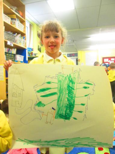 """I drew a beanstalk"""