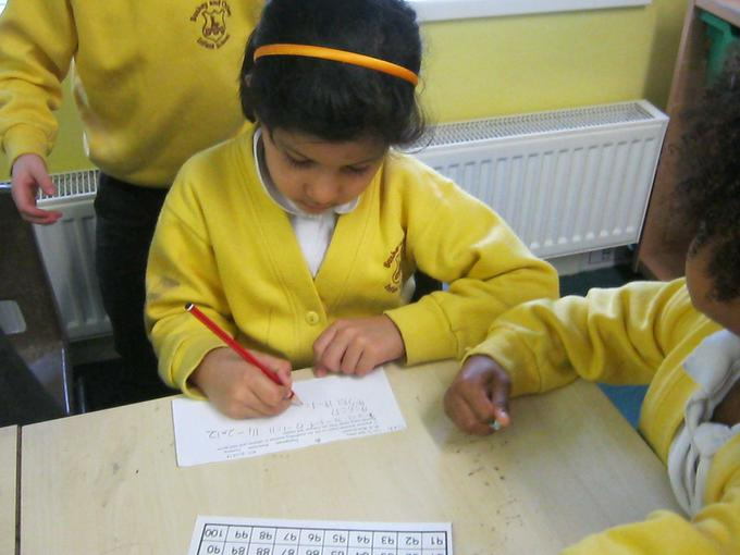 recording our subtraction calculations