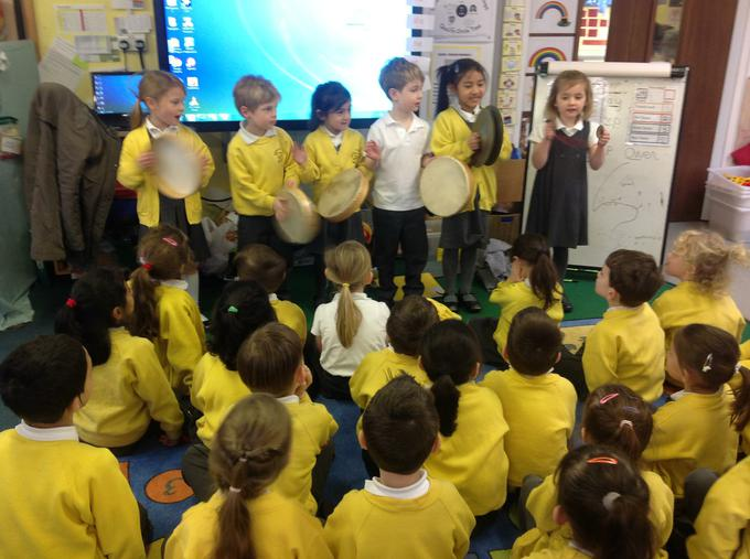 We listened to Chinese songs in our music lesson