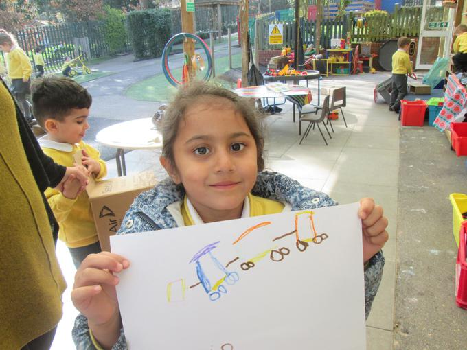 """""""I drew a picture of a train"""""""