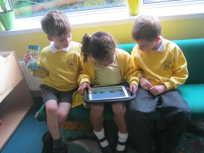 Sharing one of the class iPads