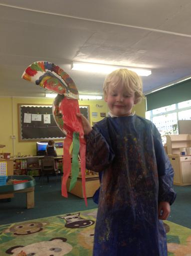 We made very colourful toucans!