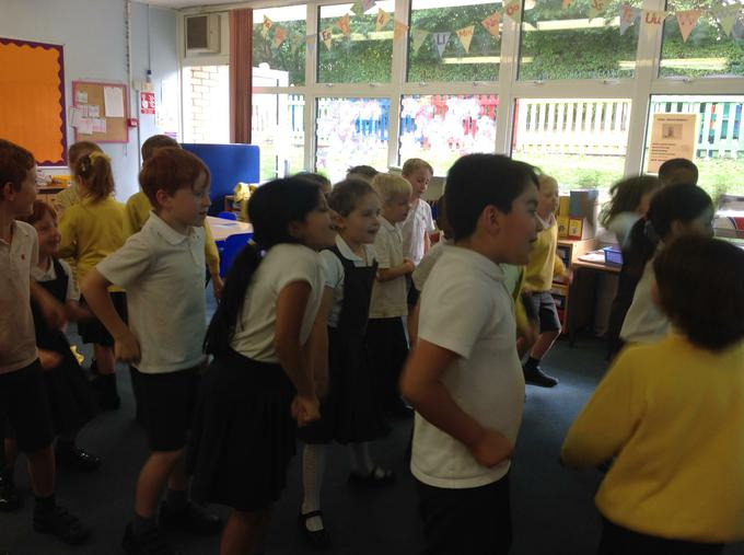 A bit of Yoga in the classroom