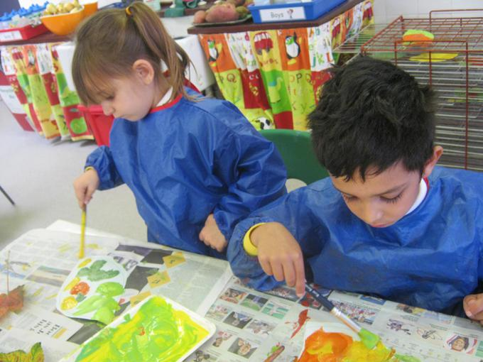 Painting our autumn leaves