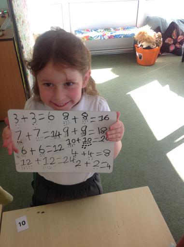 Adding numbers and calculating doubles!
