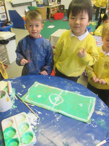 """""""We made a football pitch!"""""""