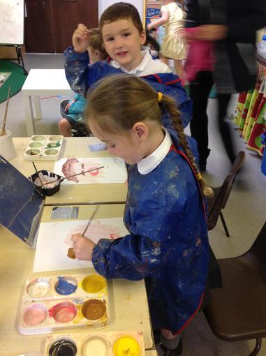We painted self-portraits