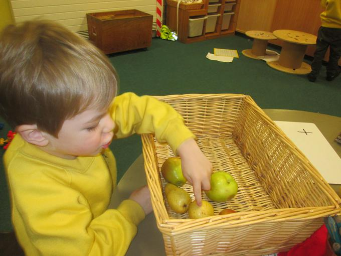 Adding Little Red Riding Hood's fruits