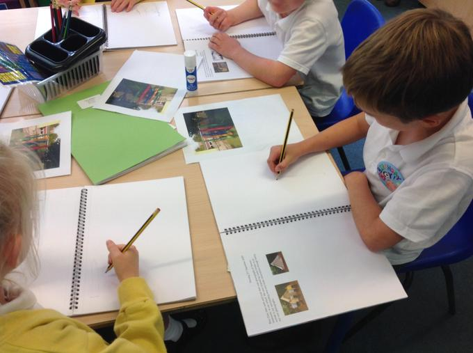 Sketching school landmarks