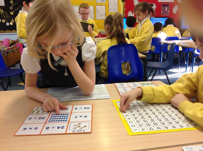Practising division and multiplication