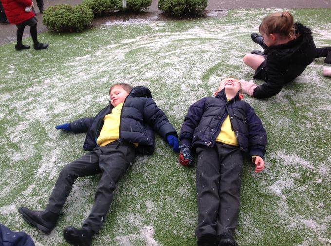 We discovered it was quite cold!