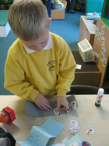 making zig zag books about people who help us