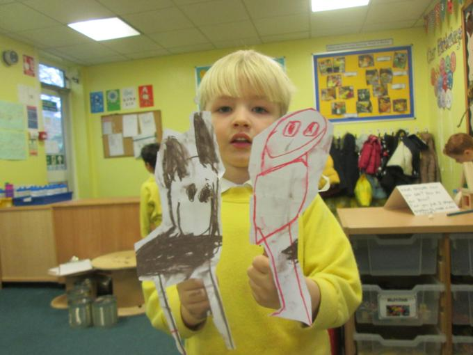 Making story puppets