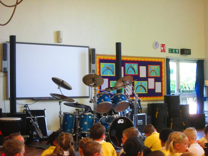 We had a drumming workshop on Wednesday