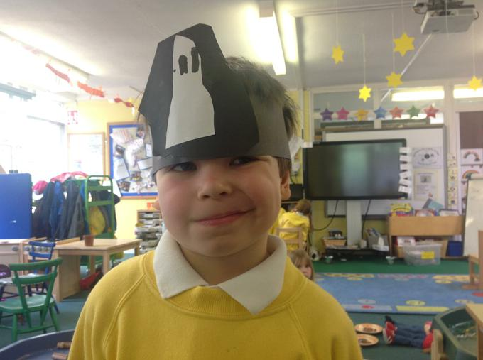 We made pirate hats