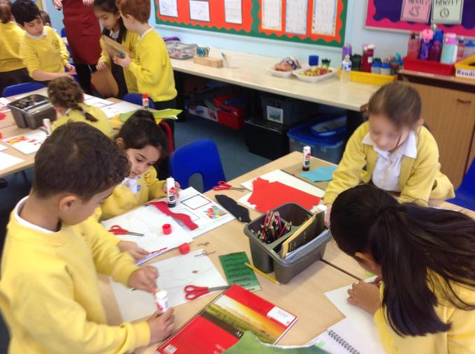 creating our collage masterpieces