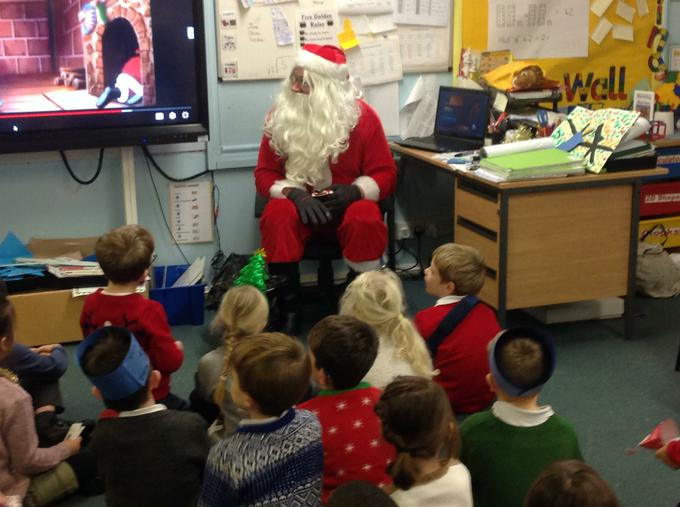 Our exciting visit from Santa!