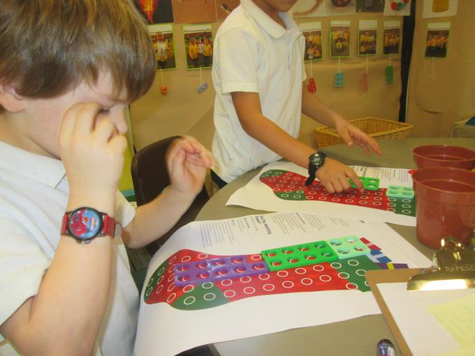 Solving a mathematical problem with Numicon
