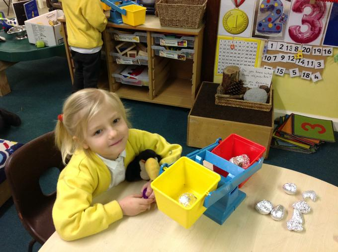 We have been learning about weighing