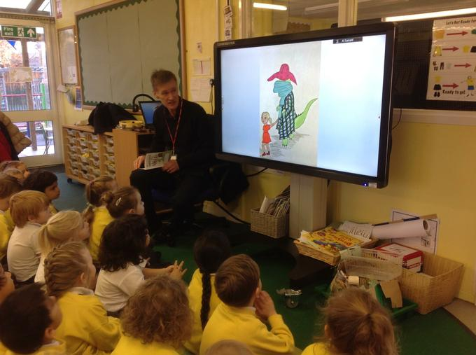 Steve Hughes reading The Dinosaur in the Shed