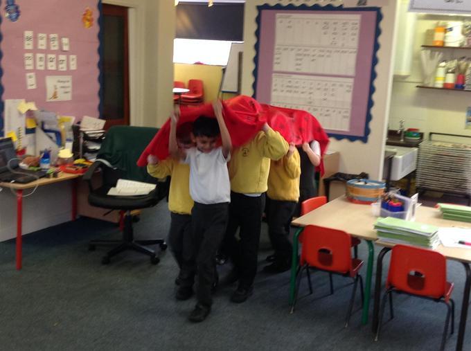 Making a dragon!