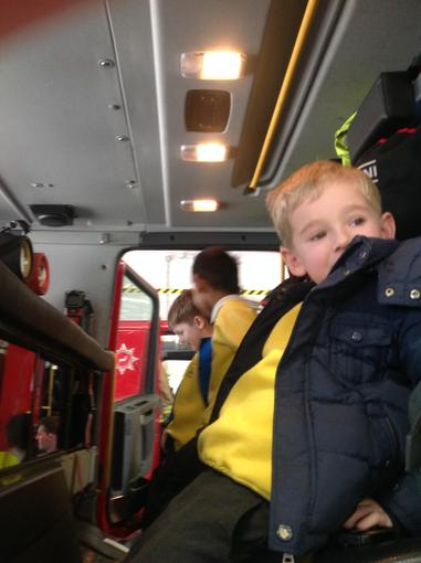 Sitting in the Fire Engine