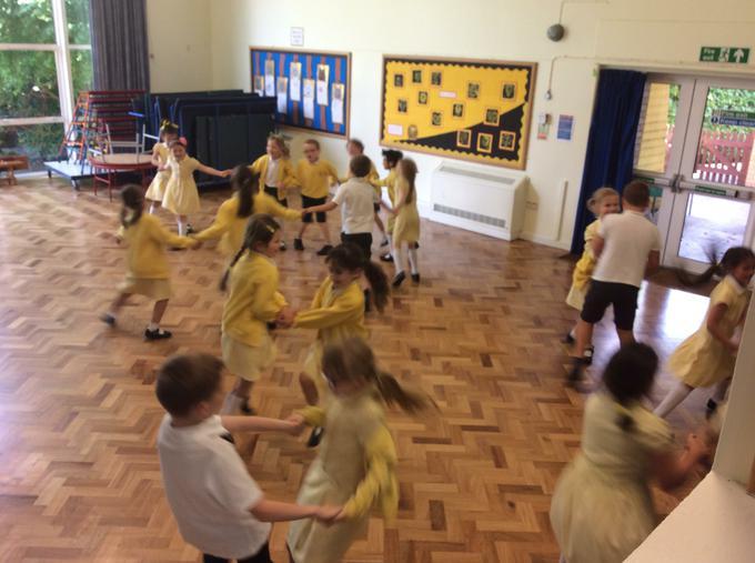 Dancing to the rhythm