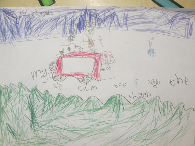 We drew pictures of our favourite parts